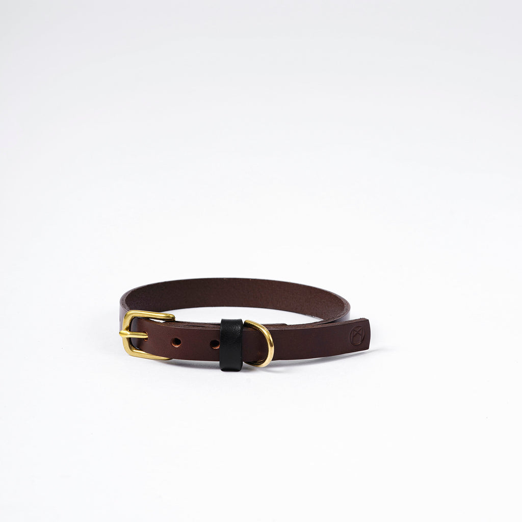 The Timothy Dog Collar - Brown