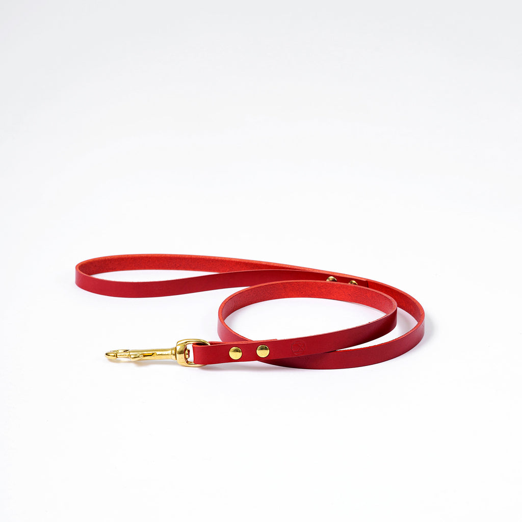 The Timothy Dog Lead - Red