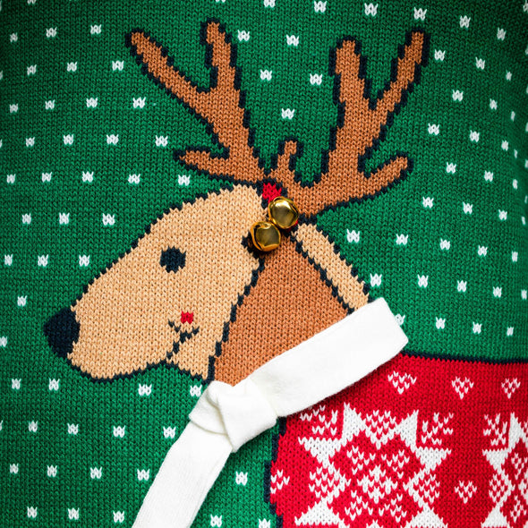 Merry Dogmas (Dam) Christmas Sweater Womens SillySanta