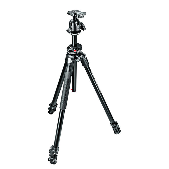 Manfrotto MK290DUA3-BH Alu 3-Section Tripod Kit with 496RC2 Ball Head