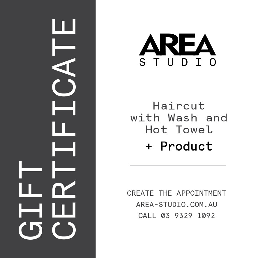 Haircut with Wash & Hot Towel + Product