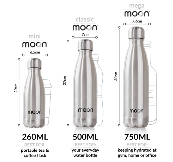 moon bottle size chart