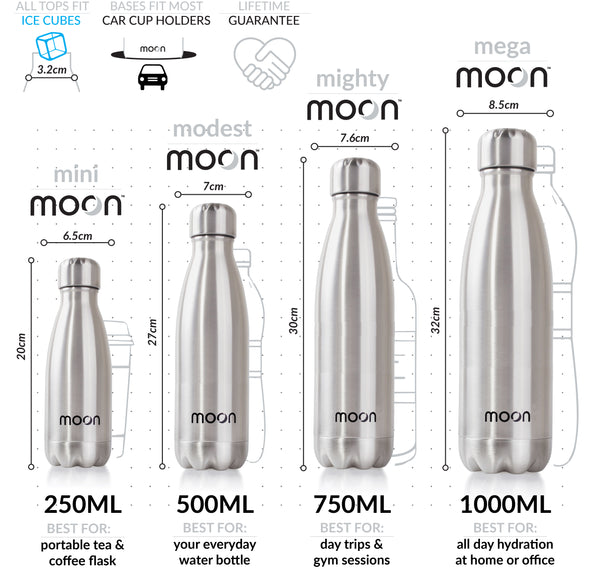 moon bottle sizing