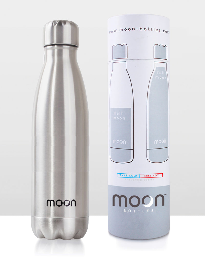Moon Bottle 750ml - Silver Uncoated
