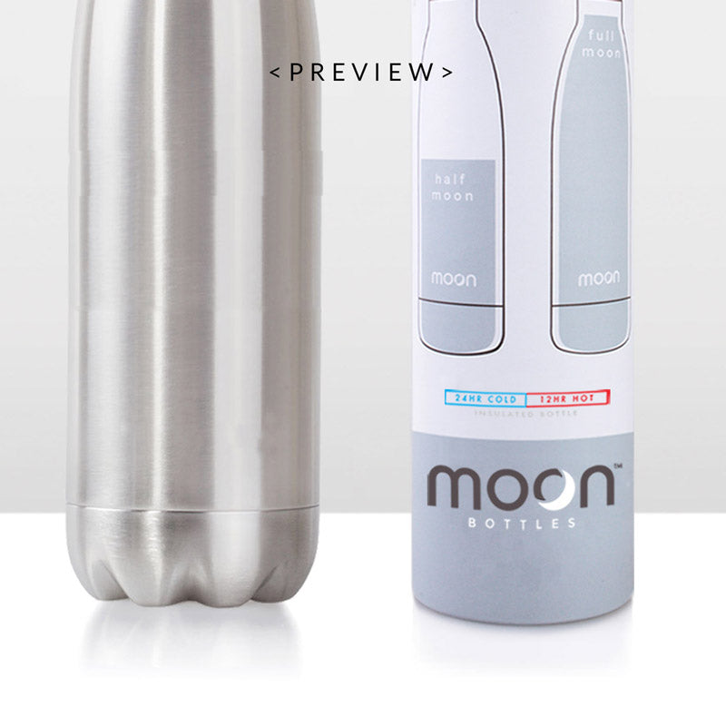 Moon Bottle 1 Litre - Insulated, Stainless Steel Water Bottles