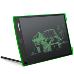 Parallel Halo 12-Inch LCD Writing Tablet- Drawing and Writing Board - Useful at the Office - Great Gift for Kids (Green)