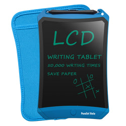 Parallel Halo 8.5 Inch LCD Writing tablet-Electronic Writing Board Doodle Board Drawing Board Erasable Black Chalkboard Sticky Notes Office Memo Pads (Blue)