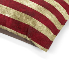 Rustic American Flag Pet Bed