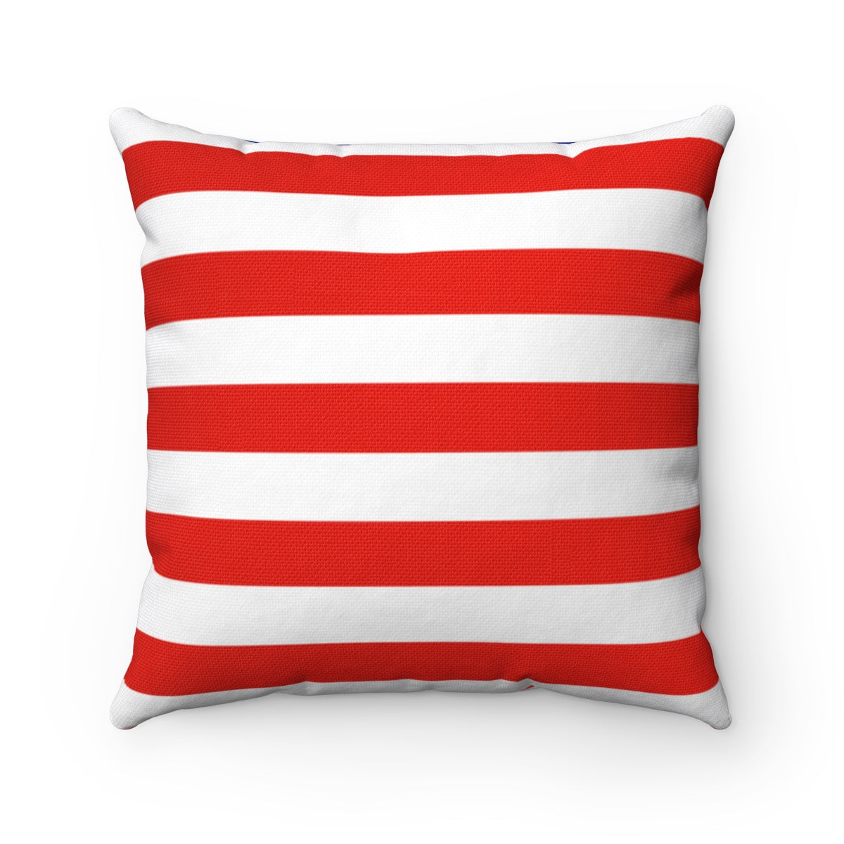 American Flag Spun Polyester Square Pillow