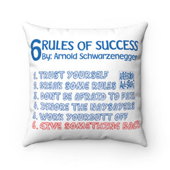 Arnold's 6 Rules Pillow