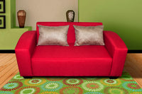 Two Seater Couch, Shirley Basics Red