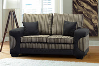 Two Seater Couch, Casablanca Chenille Black