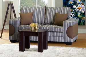 Two Seater Couch, Casablanca Basics Choc & Turquoise