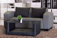 Two Seater Couch, Shirley Basics Grey