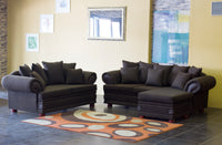 Two Piece Sharka Corner Lounge Suite