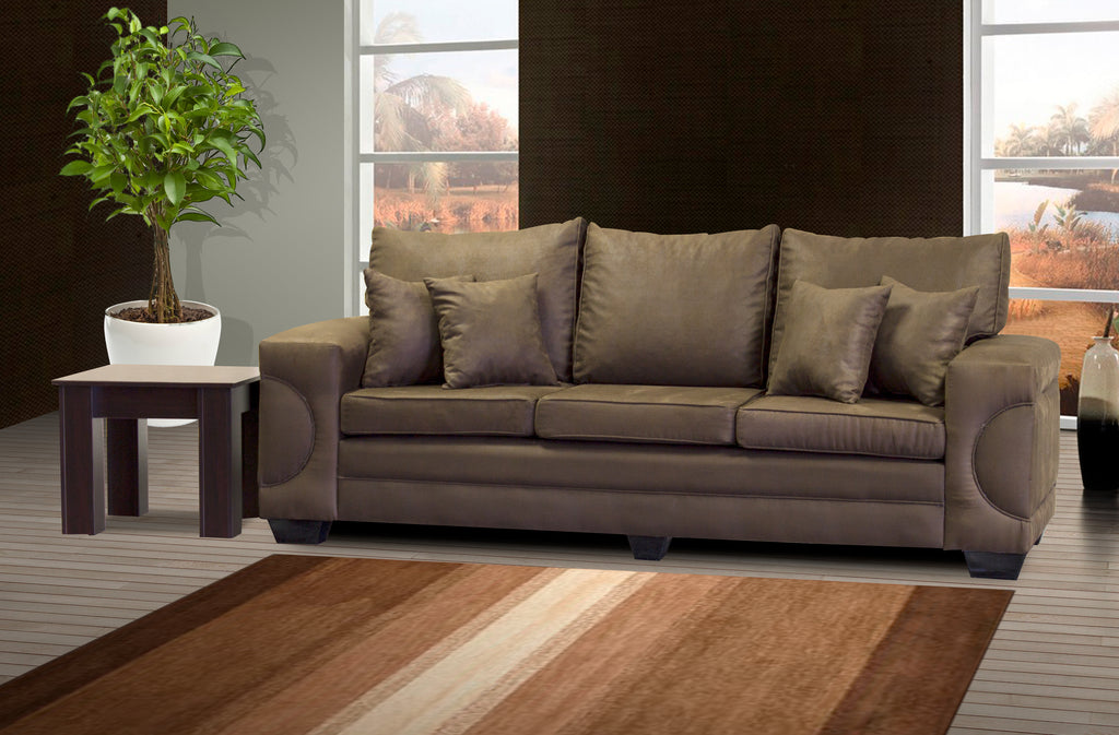 Three Seater Couch, Casablanca Buffalo Suede Choc