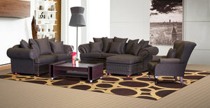 Lounge Suite, Sharka Chenille Black