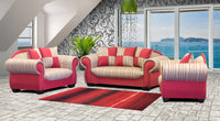 Three piece red couch