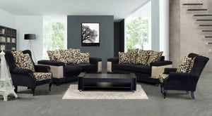 Luxury Four piece black lounge suite