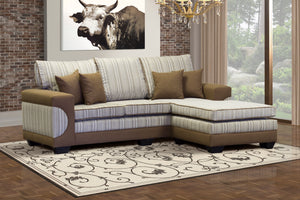 Brown L shape casablanca corner couch
