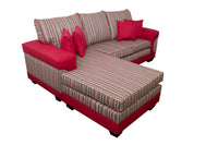 Corner Lounge Suite, Casablanca Chenille Red