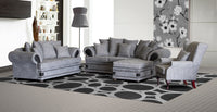 Lounge Suite, Sharka Light Grey