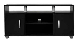 black small tv or plasma unit