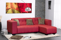 Small Corner Couch, Monica Mini Napo Red
