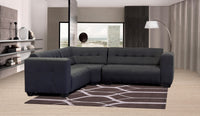 Corner Lounge Suite, Monica Basics Chenille Black