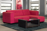 Small Corner Couch, Monica Mini Basics Chenille Red