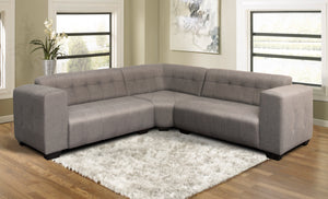 Corner Lounge Suite, Monica Basics Chenille Grey