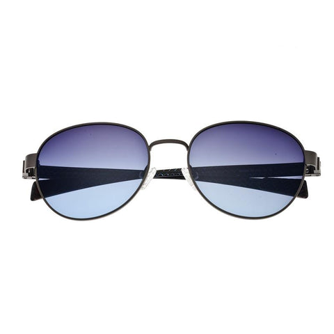 Breed Volta Titanium and Carbon Fiber Polarized Sunglasses - Gunmetal/Blue BSG009GM