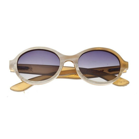 Bertha Laurel Buffalo-Horn Polarized Sunglasses - Honey/Black BRSBR006Z