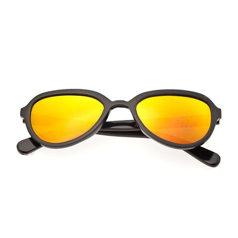 Bertha Alexa Buffalo-Horn Polarized Sunglasses - Black/Gold BRSBR007B