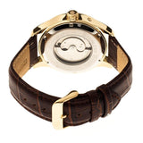Reign Bhutan Leather-Band Automatic Watch - Gold/Silver REIRN1605