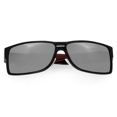Breed Stratus Aluminium Polarized Sunglasses - Black/Silver BSG010BK