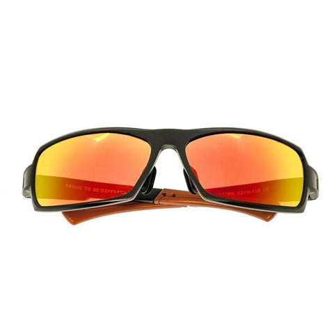 Breed Cosmos Aluminium Polarized Sunglasses - Black/Red-Yellow BSG013BK
