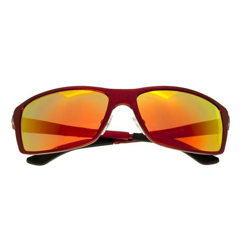 Breed Kaskade Aluminium Polarized Sunglasses - Red/Red-Yellow BSG016RD