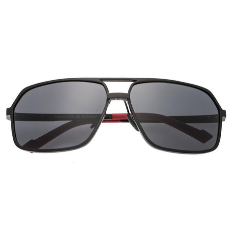 Breed Fornax Aluminium Polarized Sunglasses - Black/Black BSG023BK