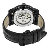 Reign Stavros Automatic Skeleton Leather-Band Watch - Black REIRN3705