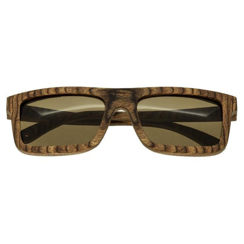 Spectrum Burrow Wood Polarized Sunglasses - Brown/Brown SSGS118BN
