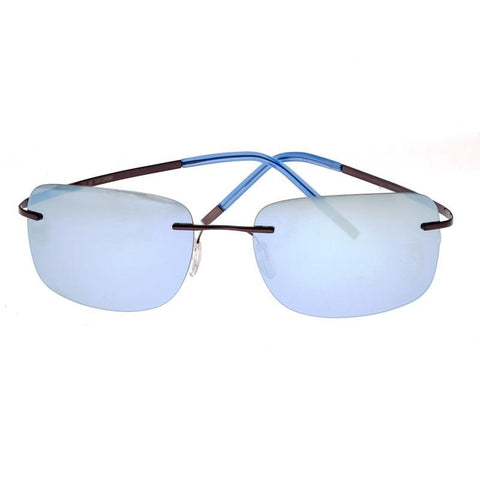 Breed Orbit Titanium Polarized Sunglasses - Brown/Blue BSG042BN