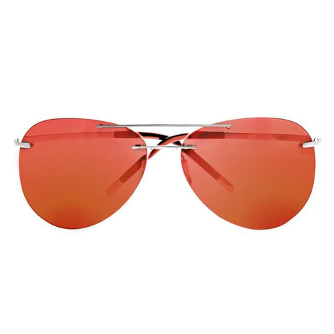Breed Luna Polarized Sunglasses - Gunmetal/Red-Yellow BSG044GM