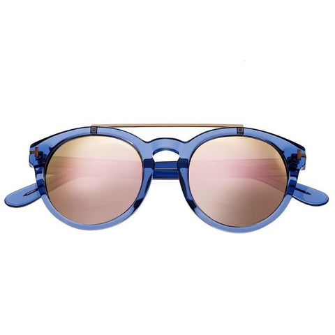 Bertha Ava Polarized Sunglasses - Blue/Rose Gold BRSBR011B