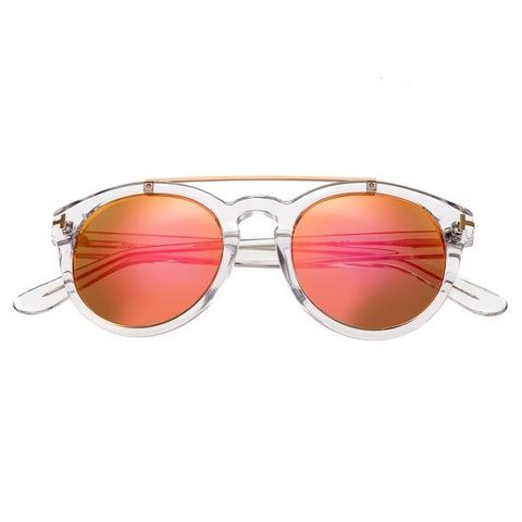 Bertha Ava Polarized Sunglasses - Clear/Rose Gold BRSBR011W