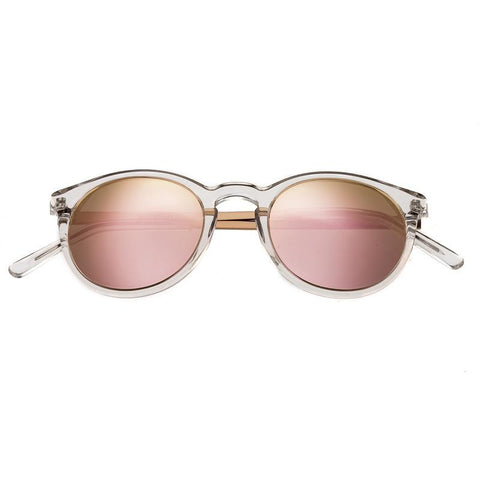 Bertha Hayley Polarized Sunglasses - Clear/Rose BRSBR014W