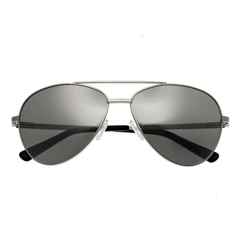 Bertha Bianca Polarized Sunglasses - Silver/Black BRSBR020S