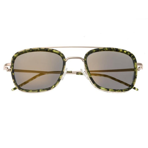 Sixty One Orient Polarized Sunglasses - Green Tortoise/Brown SIXS138BR