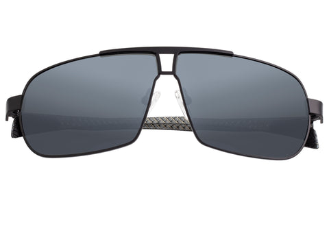 Breed Sagittarius Titanium Polarized Sunglasses - Black/Black BSG032BK
