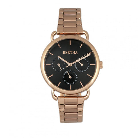 Bertha Gwen Bracelet Watch w/Day/Date - Rose Gold BTHBR8303